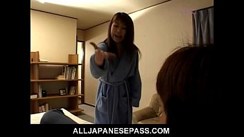 Ayana Mochida with panties in her mouth is stuffed full of cock thumbnail