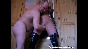 BDSM slut gets cunt finger-banged