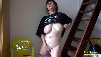 OldNannY Solo Mature Lady Fingering Masturbation