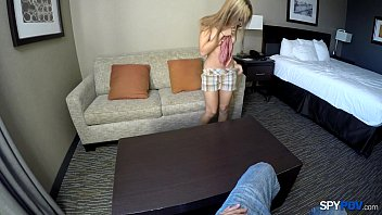 Spy Pov - She has no problem stripping naked in front of a married man