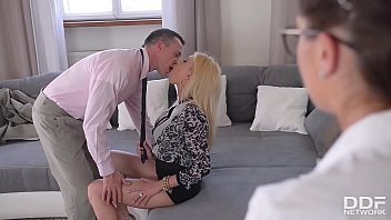 Donna Bell and Bijou in ass fucking anal threesome scene by DDF Network