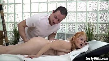 Horny granny Marianne spoiled by her hot lover