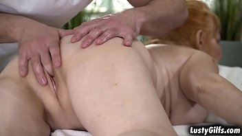 Horny granny Marianne gets spoiled by her hot lover Rob.He gives her a massage before licking her bare pussy and going to get spoiled with cock.