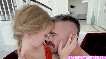Rough sex between a horny stepdad and a vicious step daughter