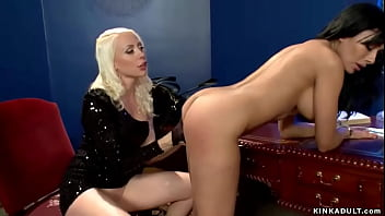 Petite bound lesbian whipped