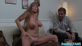 Mature slut rides bbc in front of her hubby | Video Make Love