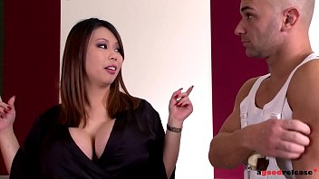 Big tits pornstar Tigerr Benson takes two big fat cocks up her pink and ass