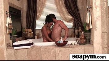 Soapy Massage and Shower Blowjob 8
