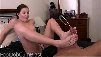 Brandi Belle footjob with HUGE cumshot