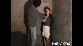Total slavery scenery with cute teen getting manhandled 5 min