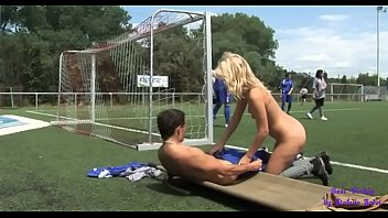 Soccer match between a women's and men's team ... it will end in a spectacular orgy
