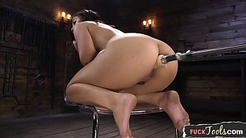 Curvy beauty machine drilled from behind