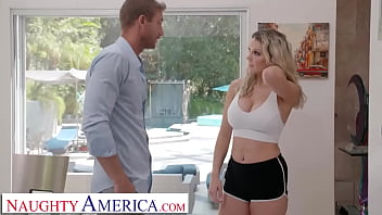 Naughty America - Big Tit Blonde, Kenzie Taylor, Showers At Neighbor's House And Get Soaked In Cum