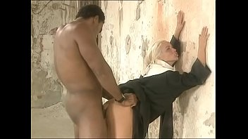 African anal fetish Naked african man bangs a white and pretty nun screaming for pleasure