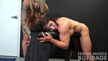 Muscular hairy pecs - Muscle female lesbian porn stars dani and brandimae