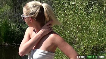 blonde chick Casi James gets fucked after hiking