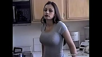 Mature porn models Hot aria giovanni cools off by pouring milk all over her face and tits