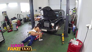 FemaleFakeTaxi Sexy minx gets down and dirty with stud at garage