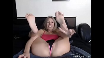 Blond MILF Dangles Stripper Heels & Shows Soles - 989cams.com preview image