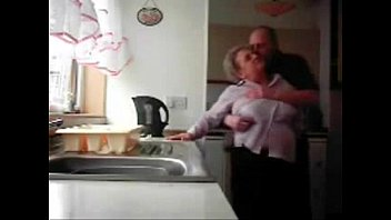 LOL. Mum and daddy caught having fun in the kitchen. Hidden cam