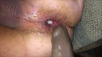 Tight Anal bitch raw fucks her asshole with thick BBC making her ass gape