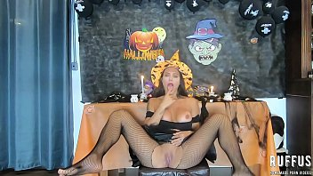 Halloween - Ghost fucking the naughty Witch - Ana Rothbard - Full video on RED