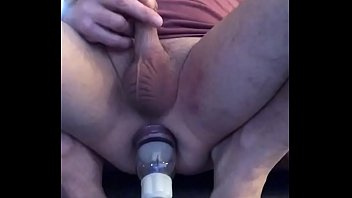 APPLYING AN ANAL PUMP TO MY ALREADY a. BUTTHOLE