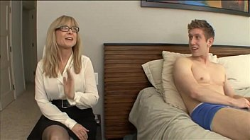 Nephew fuck his aunt - Nina Hartley - More on footjobs-tube.com pornhub video