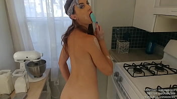Slutty Baker Gets Naked And Plays With Her Pussy