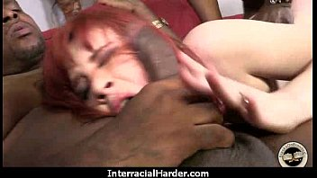 The Gigantic Black Cock fits right in her tight white pussy 8