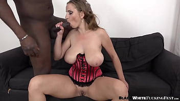 Busty lady gets all of her holes BBC penetrated