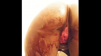 Boomerang and bust it back chocolate syrup covering my ass double videos