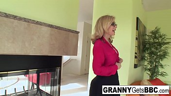 Busty blonde Nina Hartley gets fucked by a thick black cock