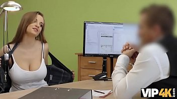 VIP4K. Agent drills juicy young pussy because girl needs money