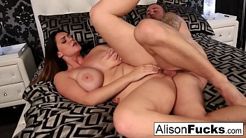 Alison Tyler's wet throbbing pussy gets stuffed by Chad