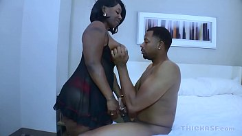 Juicy Thycc shows off her big ebony ass to Don prince on Thickasf.com