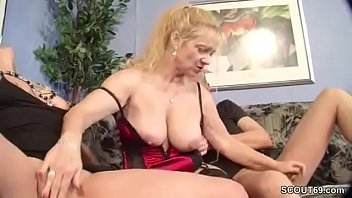 German Couple Caught Aunt Masturbate and Fuck Togehter
