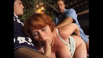 Mature redhead lady double banged