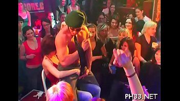 Lots of bang on dance floor blow jobs from blondes wild fuck