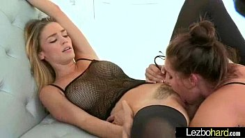 Lesbians in stockings do cunnilingus