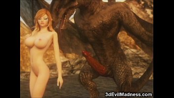 3D Elf Girl Destroyed by Dragons! thumbnail