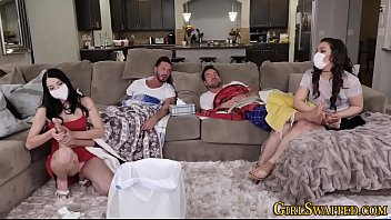 Stepdaughters group fuck and suck