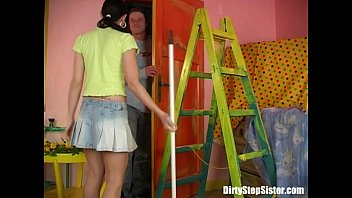 Stepbrother Cleaning My Tight Wet Teen Snatch