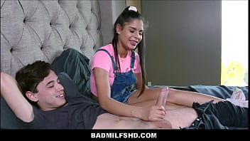 "MILF Stepmom Becky Bandini & Latina Teen Stepsister Katya Rodriguez See Stepbrother Juan ""El Caballo"" Loco Huge Cock For First Time"