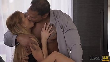 BLACK4K. Sweet thing in short dress is ready for sex with black man