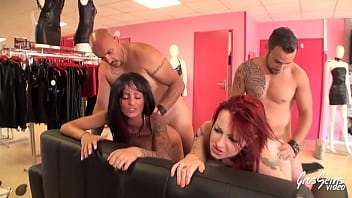 Eva and Margaux turn shopping into a very hot swinger session