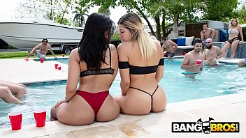 BANGBROS - Pool Side Fuck Fest With The Notorious Fuck Team Five!