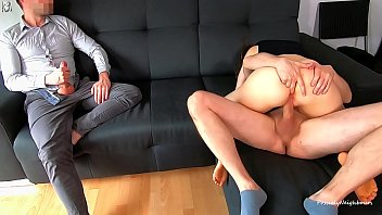 Cuckold Husband Watches His Young Wife Creampied And Licked His Cum