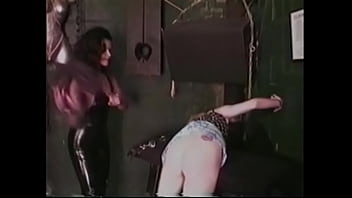 Cute blonde with small tits crawls on her knees and gets spanked on yummy ass