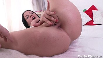 Firstanalquest.com - First Anal Quest For A Petite Brunette Slutty Teen